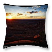Sunset Valley Of The Gods Utah 11 Text Black Throw Pillow