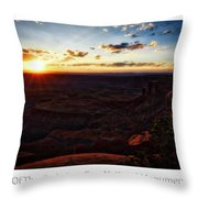 Sunset Valley Of The Gods Utah 11 Text Throw Pillow