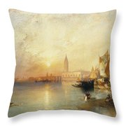 Sunset Venice Throw Pillow