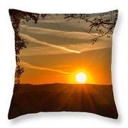 Sunset Vienna West Virginia Throw Pillow