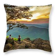 Sunset View At Ravens Roost Panorama Throw Pillow