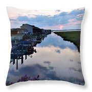 Sunset View At The Art League Of Ocean City - Maryland Throw Pillow