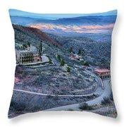 Sunset View From Jerome Arizona Throw Pillow