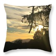 Sunset View From Olana  Throw Pillow
