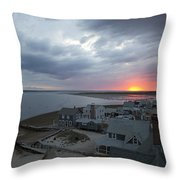 Sunset View From Sandy Neck Light Throw Pillow