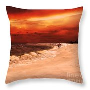 Sunset Walk Throw Pillow
