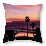 Sunset Walker Throw Pillow