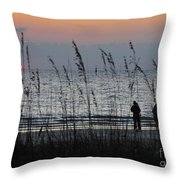 Sunset Watching Throw Pillow