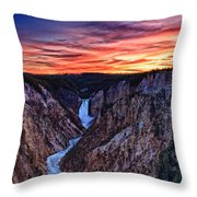 Sunset Waterfall Throw Pillow