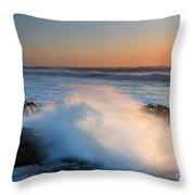 Sunset Wave Explosion Throw Pillow