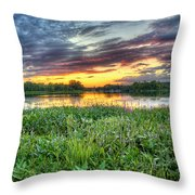 Sunset West Crooked Lake Throw Pillow