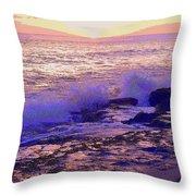 Sunset, West Oahu Throw Pillow
