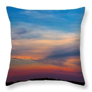 Sunset Windsor Illinois Throw Pillow
