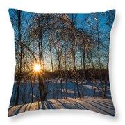 Sunset Winter Shadows Throw Pillow