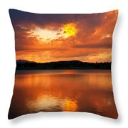 Sunset With A Golden Nugget Throw Pillow