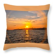 Sunset With Halo Throw Pillow