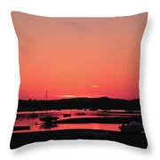 Sunset With Pink Afterglow Throw Pillow
