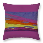 Sunset With Purple Clouds Throw Pillow
