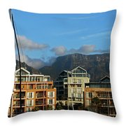 Sunset With Table Mountain Throw Pillow