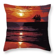 Sunset - Wonder Of Nature Throw Pillow