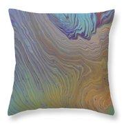 Sunset Wood Throw Pillow