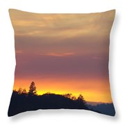 Sunset Yellow Orange Purple Sunset Giclee Art Prints Baslee Troutman Throw Pillow