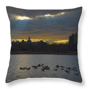 Sunset,lake, Throw Pillow