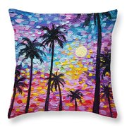 Sunsets In Florida Throw Pillow