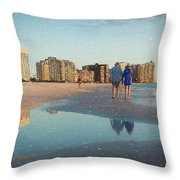 Sunsets On Marco Island Throw Pillow
