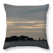 Sunsets On Water Throw Pillow