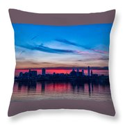 Sunsets Over Philly Throw Pillow