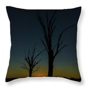 Sunsette Silhouette Throw Pillow