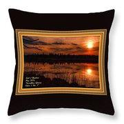Sunsettia Gloria Catus 1 No. 1 L A. With Decorative Ornate Printed Frame. Throw Pillow