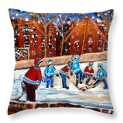 Sunsetting On My Street Throw Pillow