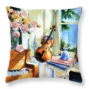Sunshine And Happy Times Throw Pillow