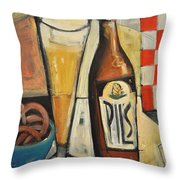 Sunshine And Hops Throw Pillow