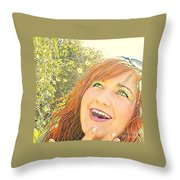 Sunshine And Laughter Throw Pillow
