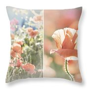 Sunshine And Poppies Throw Pillow