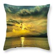 sunshine at Puerto Cabello Throw Pillow