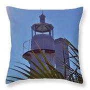 Sunshine At The Lighthouse Throw Pillow