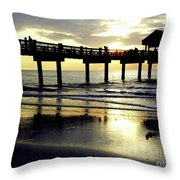 Sunshine At The Pier 60 Throw Pillow