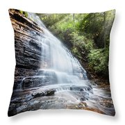 Sunshine At The Waterfall Throw Pillow