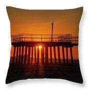 Sunshine At Wildwood Crest Pier Throw Pillow