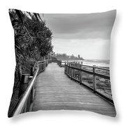 Sunshine Coast Boardwalk  Throw Pillow