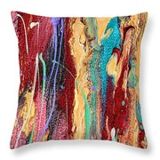 Sunshine Coast Colorful Abstract  Throw Pillow