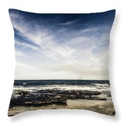 Sunshine Coast Landscape Throw Pillow