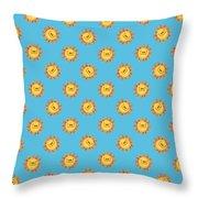 Sunshine Daisy Repeat Throw Pillow
