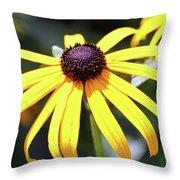Sunshine Flower Throw Pillow