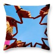 Sunshine Gang Throw Pillow