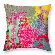 Sunshine Garden Throw Pillow